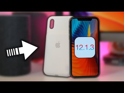 iOS 12.1.3 NOVITÀ - Battery Case su iPhone X, Wi-Fi MIGLIORE & iMesssage Fix!