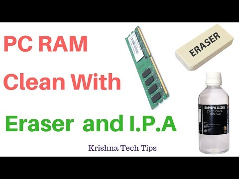 How to clean PC RAM with Eraser and IPA liquid