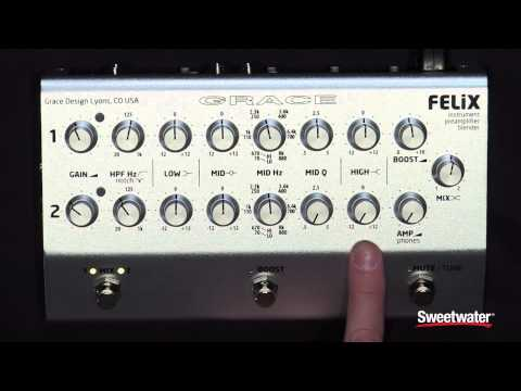 Grace Design Felix Instrument Preamp/Blender Pedal Demo by Sweetwater