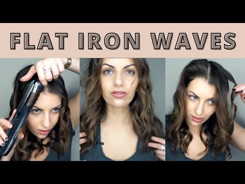 HOW TO :: CURL YOUR HAIR WITH A FLAT IRON (Beach Waves)