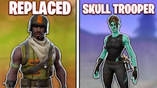 5 peaux Fortnite qui REPLACED The Skull Trooper (Forever Rare!)