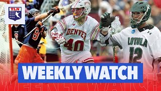 THE BEST COLLEGE LACROSSE PLAYERS YOU HAVEN'T HEARD OF | Weekly Watch