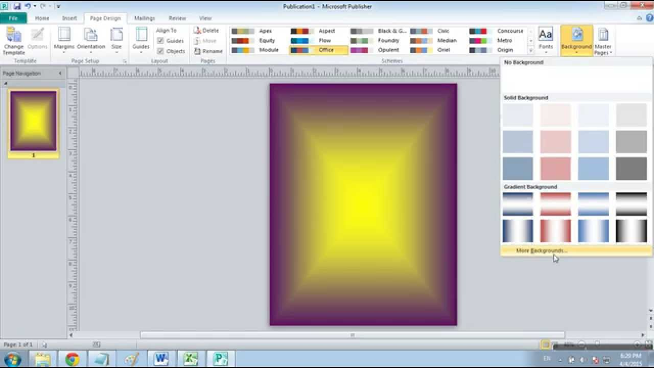 Cara Mengubah Warna Background Di Microsoft Publisher 2010