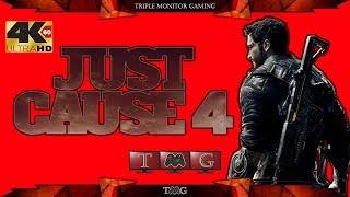JUST CAUSE 4 [4K@60fps] intro   Triple monitor gameplay 5760x1080