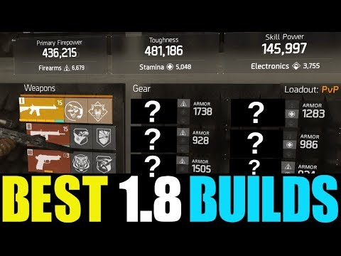 THE DIVISION - TOP 3 BEST NON-CLASSIFIED BUILDS YOU NEED TO USE! (BEST 1.8 PVP & PVE BUILD)