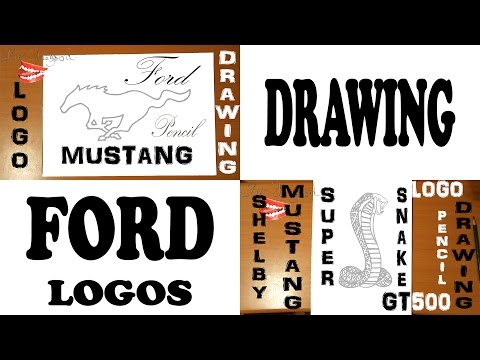 How To Draw Ford Logo Step By Step Easy Ford Mustang Logo And