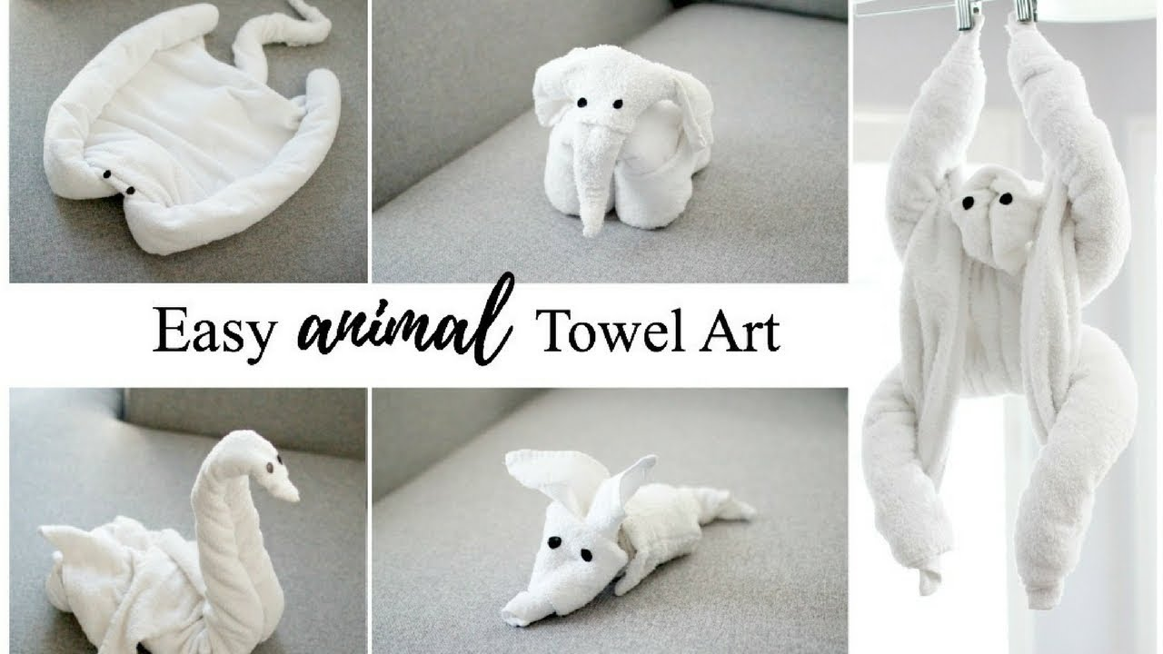 HOW TO MAKE TOWEL ANIMALS/TOWEL ART TUTORIAL - FOR BEGINNERS! - YouTube