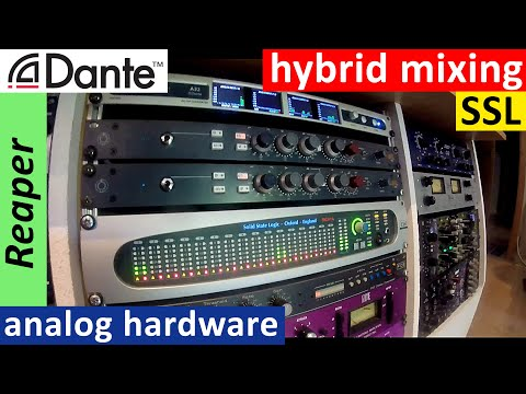 hybrid recording studio - Cockos Reaper, Dante network, CopperLan, analog outboard, SSL Sigma - pt.1