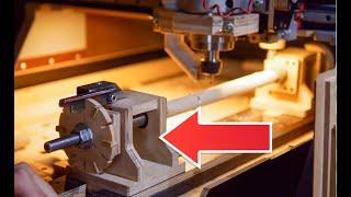 Механическая поворотная ось с делительным кругом своими руками. ЧПУ 4 ось / Diy rotary 4axis CNC