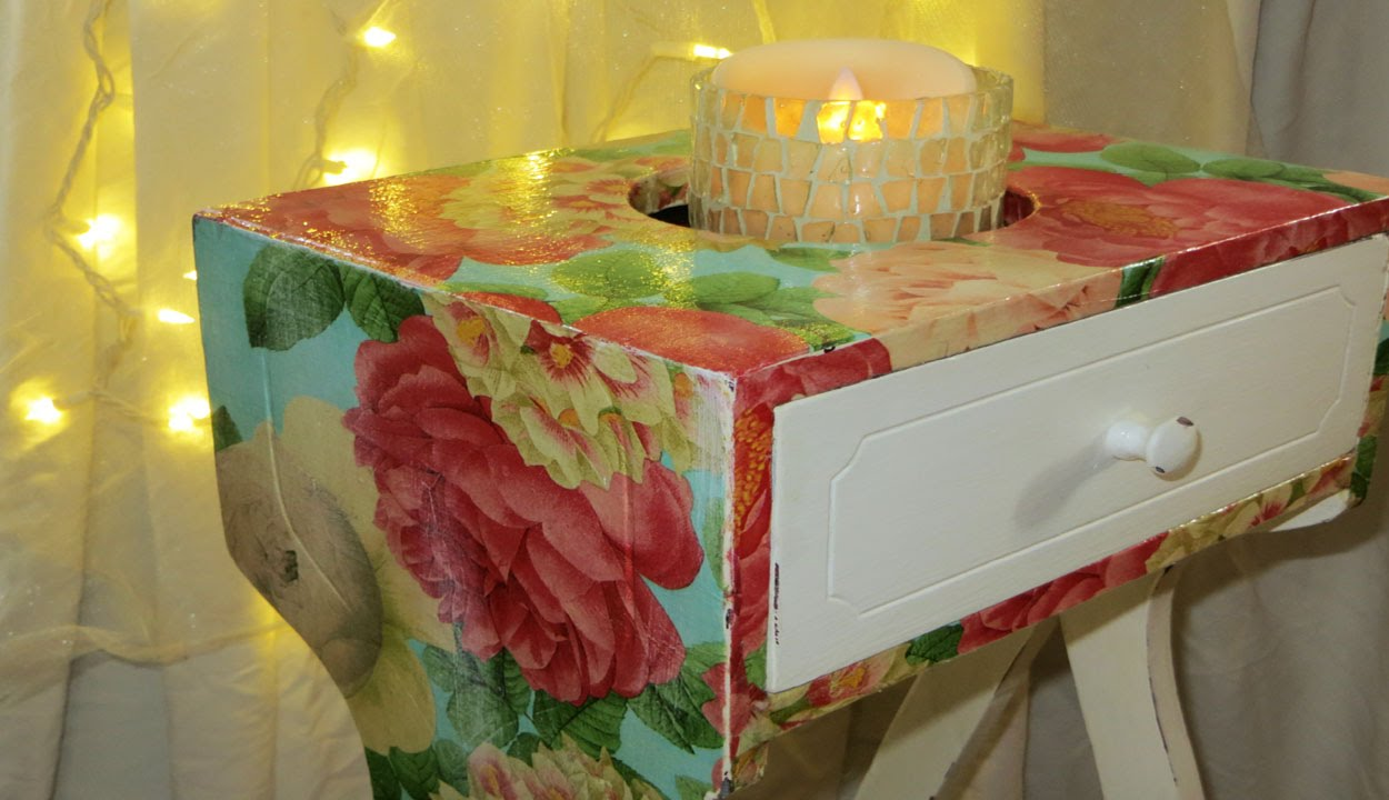 DIY The Easiest Furniture Makeover W Decoupage