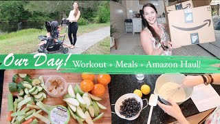 Our New Normal! Workout, Meals, Amazon Haul, & Virtual School!  Hang Out With Me!