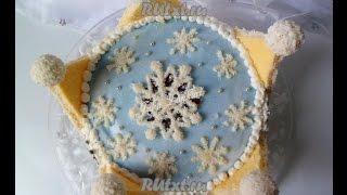 Новогодний торт Снежная королева  Пошаговый рецепт с фото