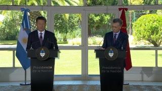Declaración a la prensa de los presidentes Mauricio Macri y Xi Jinping en Olivos