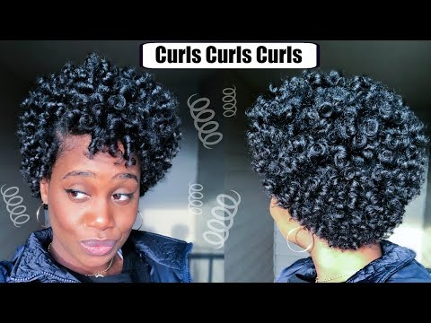 Perm Rod Set on Short Natural Hair   MissKenK