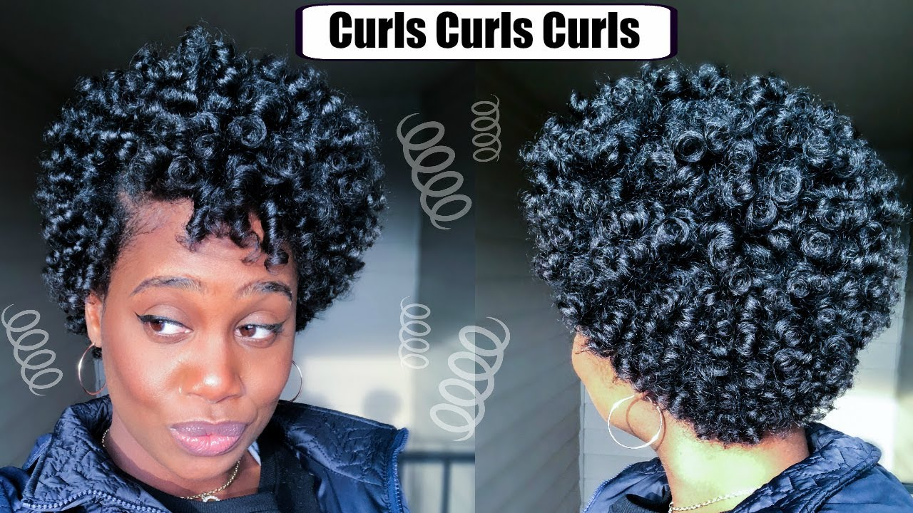 Perm Rod Set On Short Natural Hair Misskenk Youtube