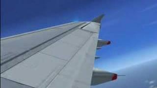 FSX Max Detail Airbus A321 A320 Rome Italy Test Flight.