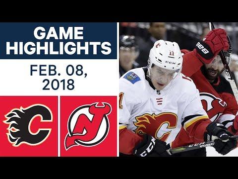 NHL Game Highlights | Flames vs. Devils - Feb. 8, 2018