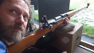 Shooting a rifle for the first time