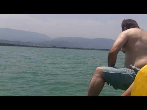 Caspian sea swimming