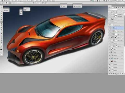 shiny car rendering: layering strategy