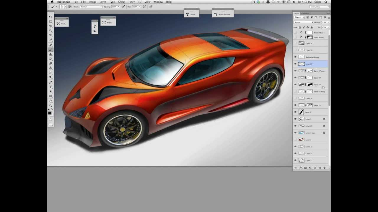 Shiny Car Rendering: Layering Strategy