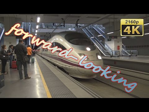 With High Speed Train AVE from Girona to Madrid ATOCHA - Spain 4K Travel Channel