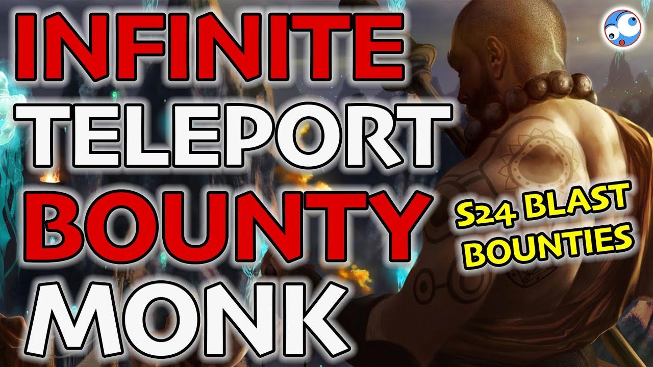 Infinite Teleport Bounty Blaster Build (Monk Inna Mystic Ally Raiment Guide) Season 24 Diablo 3