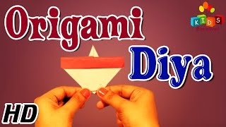 Origami - How To Make DIYA (OIL LAMP) For Diwali - Diwali Special
