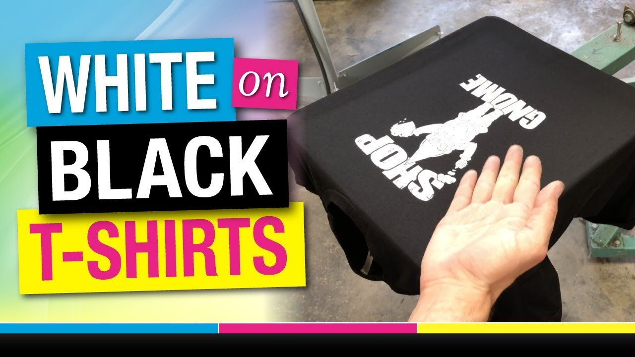 0ca81614 How to Screen Print White on Black T Shirts Tutorial. Mikey Designs & Silk  Screen