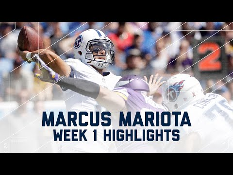 Every Marcus Mariota Throw | Titans vs. Vikings | NFL Week 1 Player Highlights