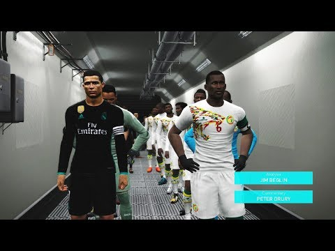 Senegal vs Real Madrid - Full Match - Derby Pes Gameplay - PC HD