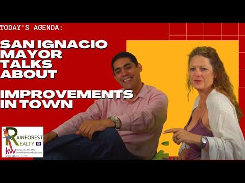 San Ignacio Mayor talks about Improvements in town