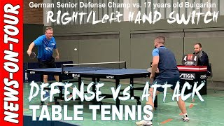 17 years Bulgarian vs. German Senior Table Tennis Defense Champ | A.Grothe (1830) vs. V.Yanev (2052)