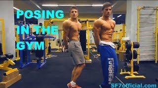 posing in the gym sf7 and lukas janousek