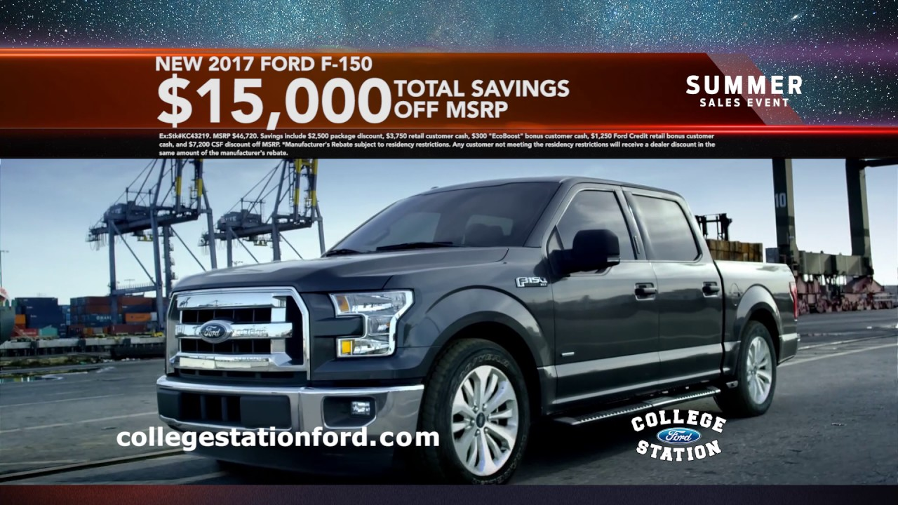 College Station Ford >> College Station Ford Summer Sales Event August 2017