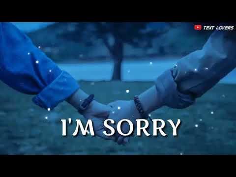 Sorry Status For GirlFriend/BoyFriend 30s Status ❤️ Whatsapp/TikTok Status