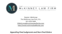 Divorce Attorney Tampa | Family Law Appeal | McKinney Law Firm