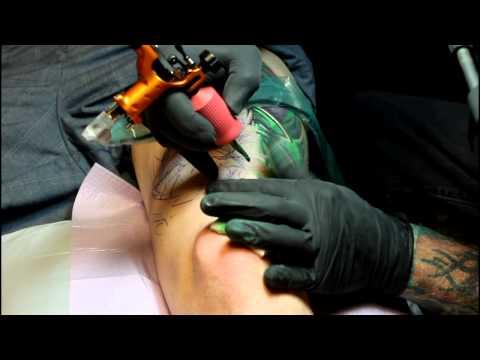 Green Lantern Tattoo by Todo using Stingray machine