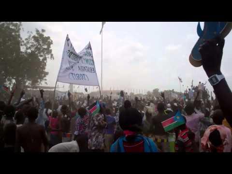 South Sudan Flag Hoisting