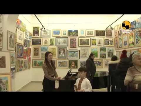 Телеканал ЧЕРНІВЦІ: В Чернівцях відкрили виставку робіт юних художників «Буковинський розмай»