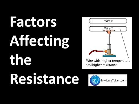 Factors Affecting the Resistance | Electricity