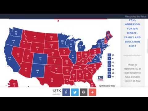 Donald Trump vs Hillary Clinton Electoral map