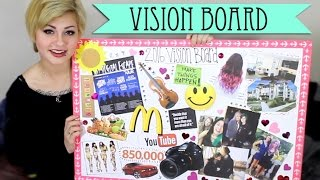 MY 2016 VISION BOARD //  New Year's Resolutions! | HeyThereImShannon