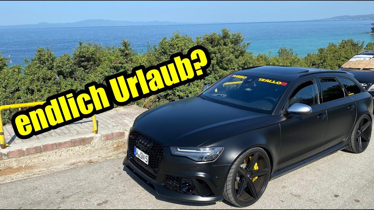 mit dem Audi RS6 am Griechischen Meer