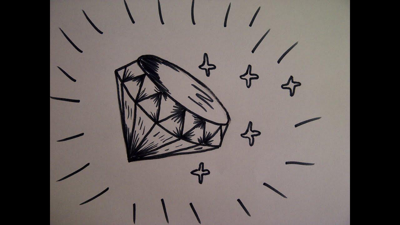Como dibujar un diamante como hacer un dibujo para - Como hacer dibujos en la pared ...