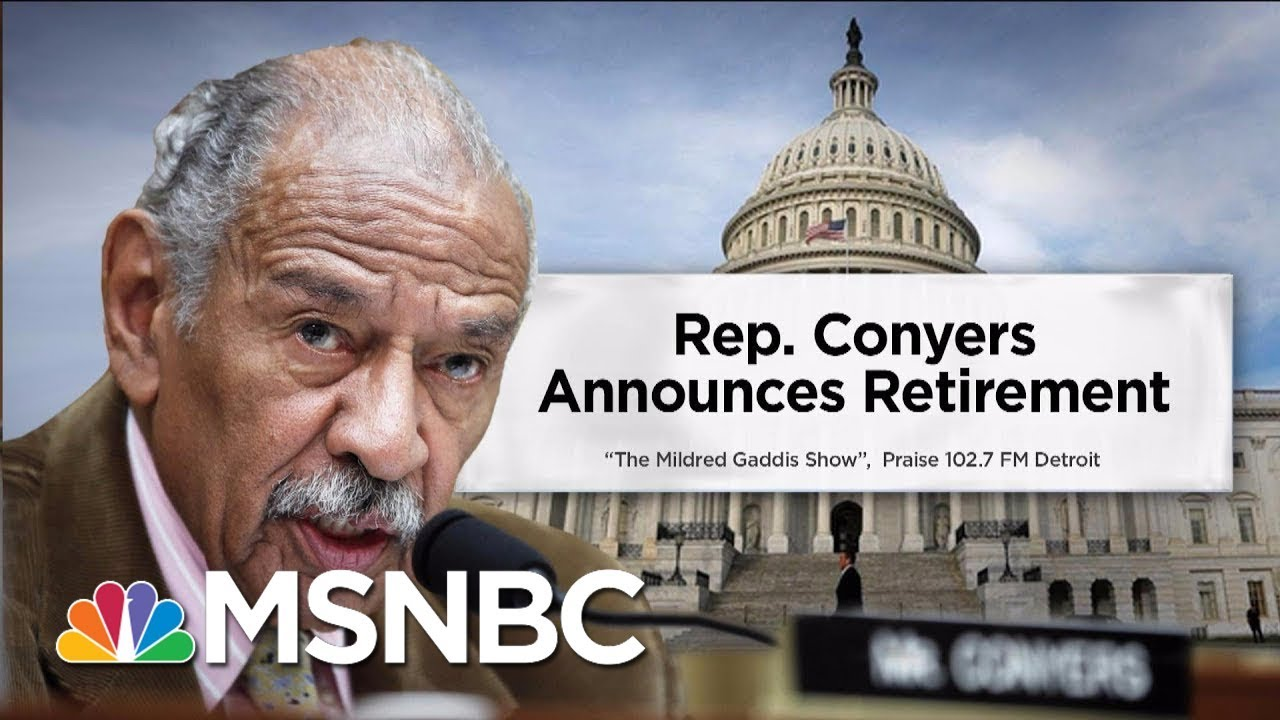 Rep. John Conyers announces he will 'retire today' from congressional seat