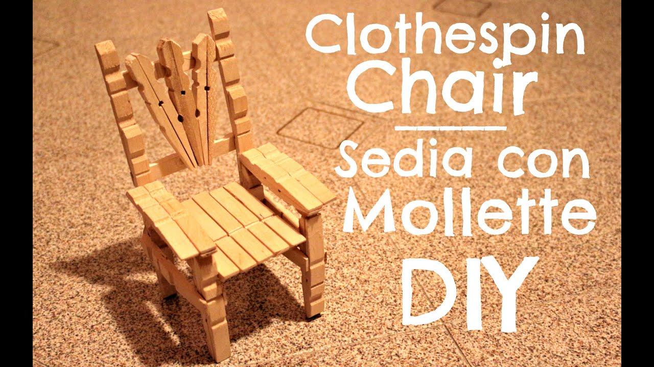 Sedie Fatte Con Mollette Di Legno.Clothespin Chair Sedia Con Le Mollette