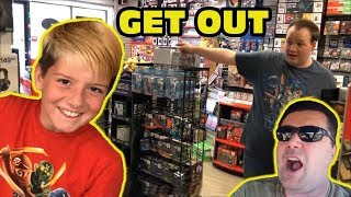 Kid Temper Tantrum Gets Banned From Gamestop By Angry Store Manager [ Original ]