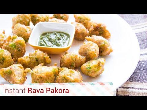 Download Instant Rava Pakora - Crispy sooji pakode, Instant snack, Pakoda, suji, semolina fritters. Pictures