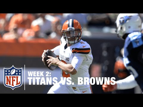 Johnny Manziel to Benjamin for a 50-Yard TD | Titans vs. Browns | NFL